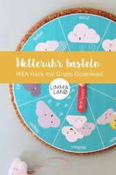 Wetteruhr basteln: IKEA Hack mit gratis Download