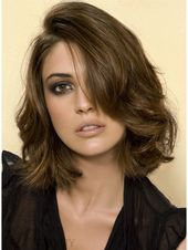 Modern Loose Wavy 100% Human Hair Bob Hairstyle Lace Wig 12 Inches