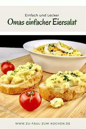Ensalada de huevo simple de la abuela   – Essen