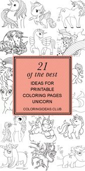 21 Of the Best Ideas for Printable Coloring Pages Unicorn #littleunicorn Some co…
