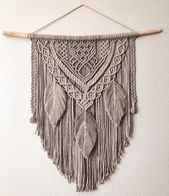 Macrame wall hanging with feathers – Fond Willow