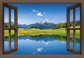 Poster oder Leinwandbild »canadastock: Fensterblick- Panoramasicht« #naturallandmarks Poster oder Leinwandbild »canadastock: Fensterblick- Panorama…