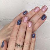 Blue and light pink nail polish combination – Beauty – …