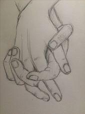 Bleistiftzeichnung – Übungsskizze Händchen haltend 4 – pinkishcoconut – #Hands