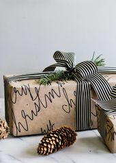 10 Ideen, um Weihnachtsgeschenke schön zu verpacken   – X-Mas und Weihnachten