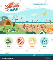 Happy Kids Enjoying Summer Camp Together Stock Vector (Royalty Free) 1411757384
