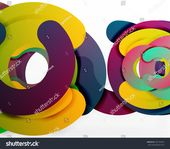 Circle Geometric Abstract Background Colorful Business Stock Illustration 670130749