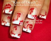 Nail-art by Robin Moses: bloody nail art blood splatter marilyn monroe hall