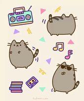 Pusheen liebt Musik.