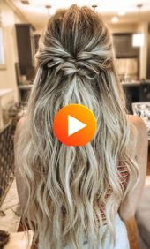 Elegant wedding hairstyles curly hair half up – new hairstyle styles 2019 – curly hair of elegant wedding hairstyles half high #peinados # half …