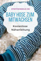 patron de couture gratuit et instructions de couture: Mitwachshose 50 / 56-62 / 68-74 / 80-86 / 92   – Schnittmuster Baby- und Kinderkleidung
