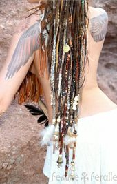 Pin By Andrea Bos On Viking Dreads In 2019  Tribal Hair Bohemian