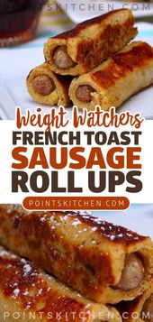 Breakfast Just Got Ten Times Better with These French Toast Sausage Roll Ups #breakfast #french #toast #sausage #rollups