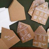 MIY Lebkuchenhaus Weihnachtskarten   – Weihnachten: Basteln, DIY und Deko