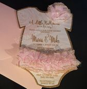 Tutu Baby Shower Invitation  Tutu 1st by TheCoutureInviteDiva #babyshowergirl – baby
