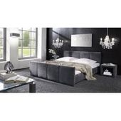 Reduced upholstered beds with a bed box