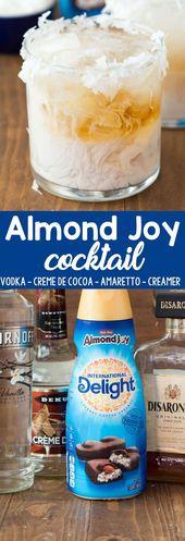 Almond Joy Cocktail – ein einfaches Cocktail-Rezept, das wie eine Mandel-Joy-Dose schmeckt …