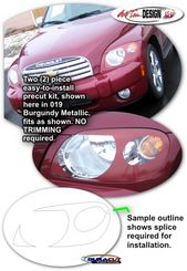 Headlight Enhancement Decal Kit 1 For Chevrolet Hhr Chevrolet Chevy Hhr Headlights