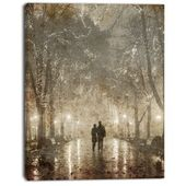 East Urban Home 'Floating Yellow Flowers I' Painting Print on Canvas   Wayfair