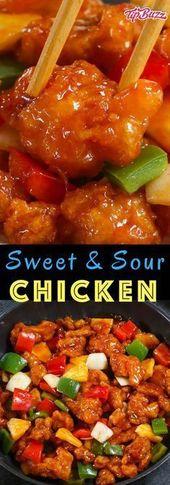 Sweet and Sour Chicken hat das köstlichste knusprige Hühnchen mit …