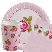 Shabby Chic Party Decorating Ideas Vintage Rose Shabby Chic