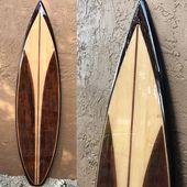 Decorative Wooden Surfboard / Surfboard Wall Art / Hawaiian Art / Surf Art / Sur…   – Surf/SKI/SAIL