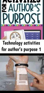 Technology activities for author's purpose 1
