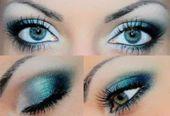 Schminke blaue Augen   – Bilden