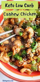Le poulet à la noix de cajou Keto low carb est l'un des plats parfaits pour les gens qui …