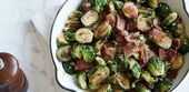 Pan Roasted Brussels Sprouts with Bacon by Sunny Anderson   – Vegetables