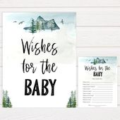 Baby Shower Songs Wishes For The Baby, Baby Wishes, Wishes for The Baby, Printable Baby Shower Games, Adventure Awaits