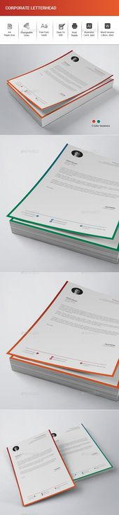 Corporate Letterhead - Stationery Print Templates Corporate - corporate letterhead