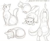 Lustige Katzen: Wie zeichnet man eine Katze?   – Katzen Bilder