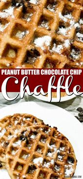 Erdnussbutter Chocolate Chip Chaffle