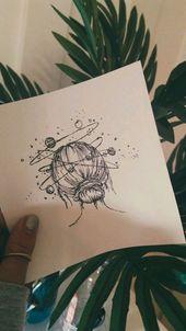 Black & White Pretty Doodle #simple #art – tattoo – #amp #black #Doodle #simple