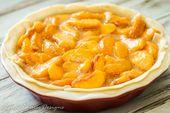 Frisch + Pfirsich + Torte + Rezept + mit + Zimt + Zucker + Kruste   – Food