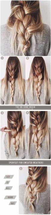 Beste Frisuren für die Schule Half Up Half Down Hair Ideas Ideas, #Hair #Ideas #School #Style ...