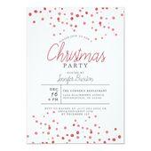 Elegant Modern Christmas Typography Holiday Party Invitation | Zazzle.com