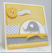 Baby Cards LeAnne Pugliese WeeInklings DS111 Nature Necessities Itty Bitty Banners Baby Car...