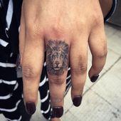 Lion Tattoo on Finger – #Finger #lion #Tattoo   – lion tattoo