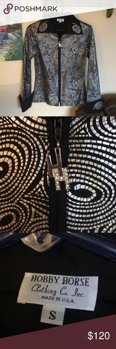 Hobby Horse Women´s Sz S Top EUC Western Wear Damen Größe Small Zip … – My Posh Picks