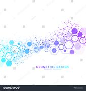 Abstract medical background. DNA research. Hexagonal structure molecule and communication background for medicine, science, technology. Vector illustr…
