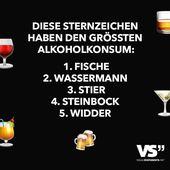 Diese Sternzeichen haben den grössten Alkoholkonsum