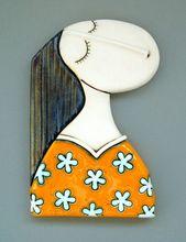 Keramik Kunstfliesen handgemachtes Einzelteil Wand hangind Geldstrafe | Etsy   – Keramiek