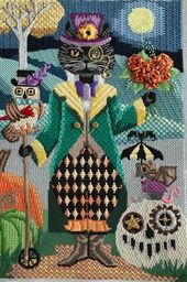 Needlepoint Stitch Guide pdf – Steampunk Cat – Brenda Stofft Design