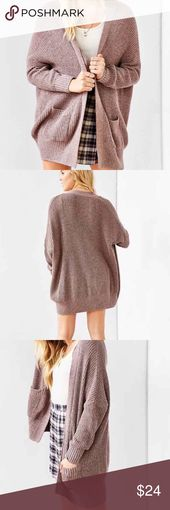 Urban Outfitters BDG parker cardigan Urban outfitters oversized cardigan in taup… – My Posh Closet