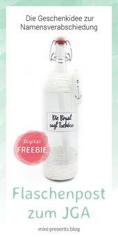 Do-it-yourself JGA Flaschenpost – Eine Idee für den Junggesellenabschied- -#G…