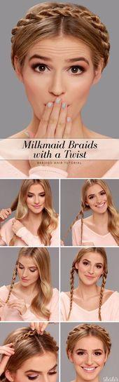 18 niedliche und bequeme Milkmaid Braid Designs