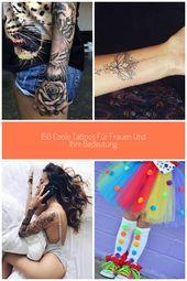 Tattoo Arm Frau, Ärmel Tattoo in schwarz und grau, Tiger, Rosen #arm Mädchen 150 c … – arm-idea