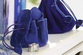 Blauer Schmuckbeutel aus Leder,  #aus #Blauer #Leder #Schmuckbeutel #Schuhaufbewahrungkinder